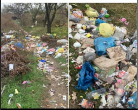 В Запорожье организовали стихийную свалку на дороге (ФОТО)