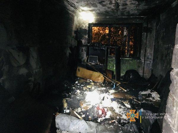 В Запорожье загорелась многоэтажка (ФОТО)
