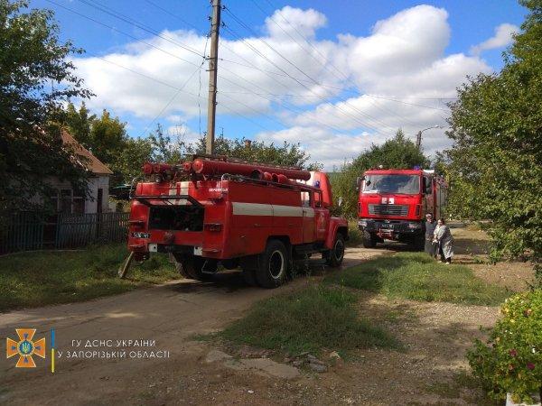 В Запорожской области горел частный дом (ФОТО)